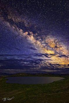 Heart Shape Seosar Lake 4142m, Deosai Plain, Pakistan.