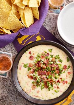 Mexicali Cheese Dip – Fresh cilantro tops this delicious appetizer recipe that's full of creamy cheese, smoky bacon, and flavorful peppers. Yummy!