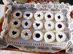 Vanilice - The best known Serbian cookies with rose hip jam or apricot jam made with a lot of love as an essential ingredient. Serbian Christmas, Cookie Recipes, Dessert Recipes, Desserts, Macedonian Food, Kolaci I Torte, Snowball Cookies, How To Make Jam, Convenience Store