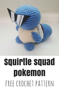 This free Squirtle-inspired shorthand pattern was made for Lion Brand's Pokigurumi campaign back in August It's not very detailed, so if you have any questions, feel free to leave… Pokemon Crochet Pattern, Crochet Geek, Crochet Amigurumi Free Patterns, Crochet Animal Patterns, Crochet For Boys, Crochet Crafts, Crochet Projects, Free Crochet, Crochet Animals