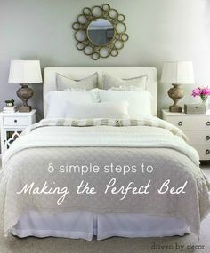 Freshen up your bedroom for spring! A step by step guide to making the perfect bed!