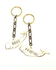 Best Friends Whales Key Chains