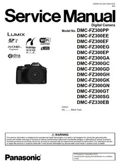 31 Best Panasonic Lumix Camera Service Manual images in 2019