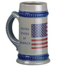 American Citizen Flag Beer Stein by Janz