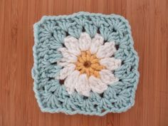 How to Crochet a Flower Granny Square