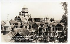 Winchester Mystery House before the 1906 Earthquake.    Collection: Historic Postcard Collection (SJPL California Room)  Date: circa 1900