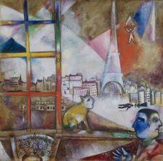 Paris Through the Window (Paris par la fenêtre) - Marc Chagall. 1913 - Guggenheim Museum, New York City, NY #Chagall