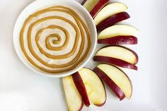 Recipe: PB Yogurt Dip + Apple Slices