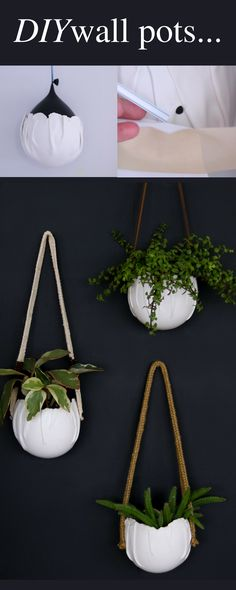 Make your plants trendy with these satchel wall planters..