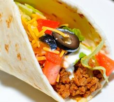 A classic restaurant-style beef taco recipe with seasoned ground beef.