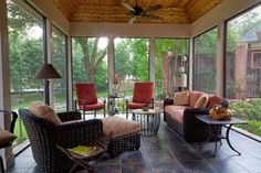 enclosed porch ideas | Screened/Enclosed Patio - traditional - porch - dallas - by DFW ...