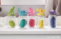 Dinosaur jar lids for kids storage