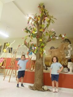 If these kids really made this tree themselves, I am very impressed.