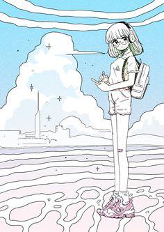 AFRO FUKUOKA OFFLINE vol.45 挿絵担当 ざきよしちゃん Fukuoka, Afro, Anime, Anime Shows, Anime Music, Anima And Animus
