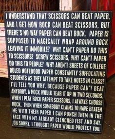 hilarious!!! Good point