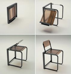 convertible coffee table and chairs by Ozzio Design