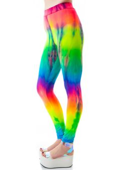 Obscure Couture Nyx Rainbow Tie Dye Leggings