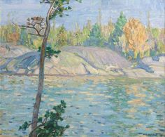 Autumn Morning, Georgian Bay by Alexander Young Jackson Emily Carr, Canadian Painters, Canadian Artists, Group Of Seven Paintings, Roi George, Tom Thomson Paintings, Jackson, Autumn Morning, Environmental Art