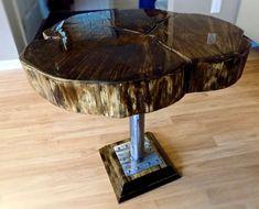 Log Slice Table by GreatLakesDesignLLC on Etsy
