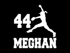 Softball Player Decal Personalized Fastpitch Name Vinyl Decal for Car Window, Locker, Laptop, and More!