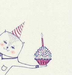 happy birthday cat // my-beloved-friend