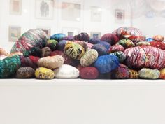 More works by Sheila Hicks at the Momentum showroom #neocon13