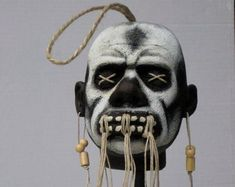 Rebound Relationship, Shrunken Head, Polyurethane Resin, Witch Doctor, Human Head, Voodoo, South America, Skulls, Hand Painted