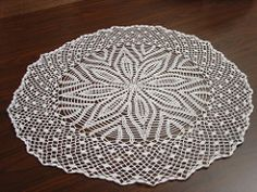 Beautiful 1958 vintage crochet doily pattern. Great results with #30 thread. Size 10 (1.15mm) steel hook.