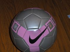 Nike Soccer Ball T90 Pitch Pink & Gray