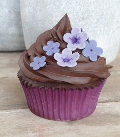 #Cupcake de violetas con chocolate margo