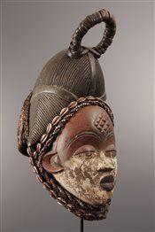 Masque Punu Okuyi - Art africain