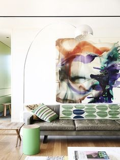 Statement art, what a beautiful piece!  6 Tips To Fill a Big Blank Wall