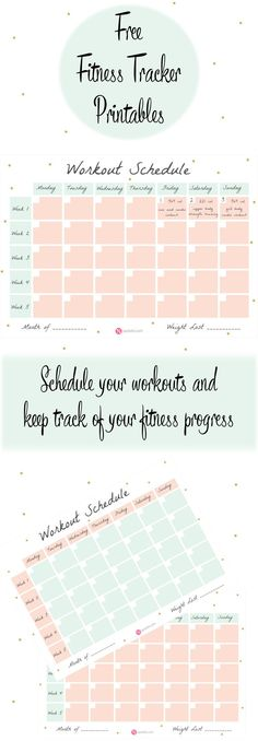 Create a workout plan that suits your needs! Schedule your workouts and keep track of your fitness progress with this free workout schedule template! http://www.spotebi.com/fitness-tracker/workout-schedule-template/