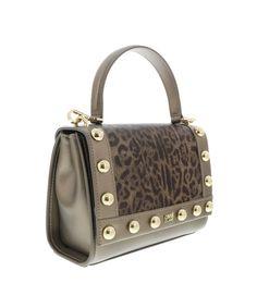 ROBERTO CAVALLI Leoglam 001 Brown/Bronze Small Shoulder Bag. #robertocavalli #bags #shoulder bags #hand bags #pvc #leather #animal print #
