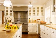 John B. Murray Architect: Houses.  Kitchen with beadboard ceiling