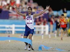 Moderní pětibojař David Svoboda právě proběhl cílem a stal se olympijským vítězem Svoboda, Olympic Champion, Olympians, Athlete, London, Running, Sports, Pictures, Hs Sports