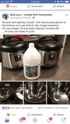 Cleaning the pot - my favorite part of this post is the angry emoji at the top 😂 Pressure Pot, Instant Pot Pressure Cooker, Pressure Cooker Recipes, Pressure Cooking, Power Pressure Cooker, Electric Pressure Cooker, Instant Crock Pot, Instant Pot Steam, Angry Emoji