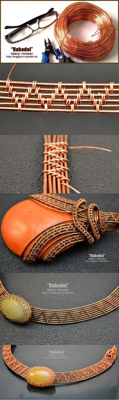 Wire wrap tutorial - http://magazin-rukodel.ru/ #jewelrymaking