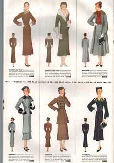 Chic et Pratique women's monthly fashion magazine by Condé Nast - October 1935 winter patterns issue - French 30s vintage