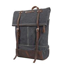 Whatland Canvas Genuine Leather BagPack Backpack, Dark Grey Whatland http://www.amazon.com/dp/B00MMMC7V4/ref=cm_sw_r_pi_dp_KjI7tb1PWG0B5