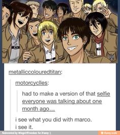 *facepalm* Everyone needs to stop with all these dead Marco jokes. They aren't even half funny.<-Niether was that.