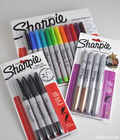 Sharpies at Staples Holiday Deal Sharpie Markers, Sharpies, School Supplies, Art Supplies, Color Puzzle, Baccalaureate, Bts Inspired Outfits, Holiday Deals, Craft Organization