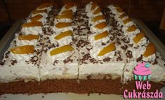 Barackos-pudingos-joghurtos süti csokis kekszdarabokkal