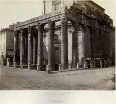 1865 circa Soulier Charles . Tempio di Antonino e Faustina.