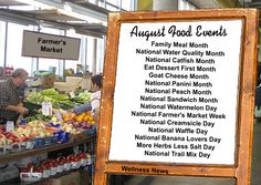 August Food Events