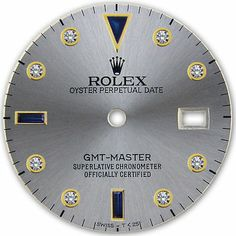 REFINED GMT MASTER 2-TONE SLATE GREY SERTI SAPPHIRE DIAMOND DIAL FOR ROLEX-40