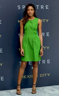 Naomie Harris from The Best of the Red Carpet  Her fashion roll is now where near slowing down with this crisp lime Lanvin design.