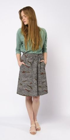 Jupe Luzaide SKFK Skunkfunk, Midi Skirt, Sequin Skirt, Coton Bio, Pulls, Sequins, Skirts, Fashion, Ethnic Print