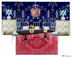 Dollhouse Room Designs | ... room is pretty spectacular! Not sure if I love that more or the blue