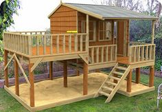 Country Cottage cubby house, australian-made, outdoor playground equipment, diy cubby house kits, cubby houses Kids Playhouse Plans, Backyard Playhouse, Build A Playhouse, Backyard Playground, Backyard For Kids, Cozy Backyard, Wooden Playhouse, Backyard Fort, Kids Outdoor Playhouses